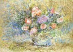 Título : Vaso com rosas Artista : Annita Catarina Malfatti - Anita Malfatti - Anita Malfati Ano : 1940 Técnica : Pastel Dim. : 44 x 59 cm