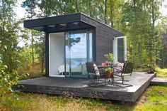 Add a Room – Small houses with big possibilities Tyni House, Tiny House Loft, Modern Tiny House, Tiny House Living, Tiny House Design, Building A Container Home, Container House Design, Casas Containers, Backyard Cottage