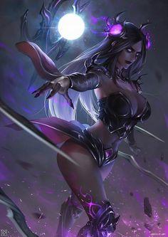 League_of_Legends fanart In Fragment time ,I painting my favorite female hero——Irelia XD Dark Fantasy Art, Fantasy Girl, Fantasy Art Women, Fantasy Kunst, Beautiful Fantasy Art, Fantasy Artwork, Fantasy Warrior, Fantasy Demon, Anime Fantasy