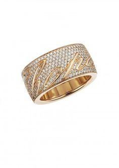 Anello Chopardissimo in oro rosa - Gioielli Chopard collezione 2015: modello in oro 18 carati con diamanti