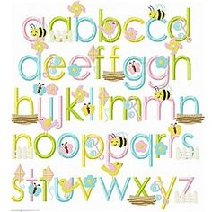 Springtime font Planet Appliqiue