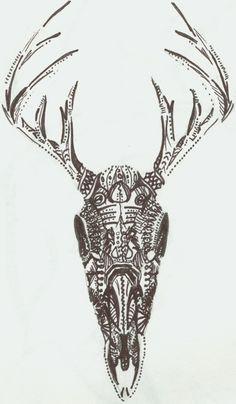 sugar skull deer - Google Search