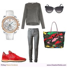 Style up a grey outfit