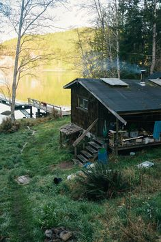 Cabin by the lake. I need my own spot like this.