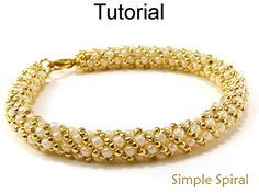Beading Tutorial Pattern PDF Russian Spiral Stitch Seed Beads Beaded Necklace Bracelet Jewerly Spiral Stitch Simple Bead Patterns #4956