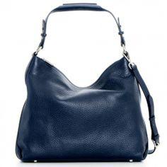 Decadent 514 Soft Bag with Zipper Navy - nydelig skulderveske i mykt skinn. Finnes også i sort & cognac på www.hgvesker.no