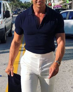The perfect summer outfit! Mature Mens Fashion, Suit Fashion, Look Fashion, Smart Casual Menswear, Men Casual, Summer Outfits Men, Casual Outfits, Men Summer, Business Casual Men