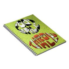Soccer 'Football Throwball' Note Book. To see this design on the full range of products, please visit my store: www.zazzle.com/gamefacegear*/ and click on the 'Soccer Football Designs' category. #soccer #football #MLS #BackToSchool