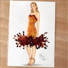 Beautiful fashion designs created by Edgar Artis .