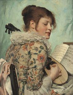 La Chanson Nouvelle, 1879 by Angèle DUBOS (1844 - ?)