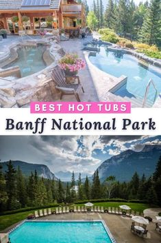 Best Banff Hotels With Private Hot Tub And Pool Facilities. Banff Canada l Banff National Park l Banff Hotels with Pool l Banff Hotels with Hot Tub l Banff Summer l Banff Winter l Banff Things To Do Banff National Park, National Parks, Travel Usa, Columbia Travel, British Columbia, Banff Hotels, Canada Destinations, Canadian Travel, Hotels And Resorts