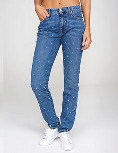 Super cool denimjeans med nitter fra Global Funk i den lækreste vask.   Bali er et par jeans fremstillet i en lækker denimkvalitet. Bukserne har 5 klassiske l