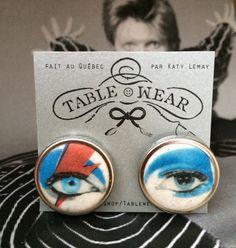 Boucles d'oreilles Ziggy Stardust David par Tablewearbykatylemay