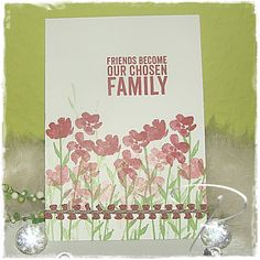 "Kartengruß ""Freunde und Familie"" http://billes-bastelblog.blogspot.de/2015/04/kartengru-freunde-familie.html Viele Bastelgrüße Bille"