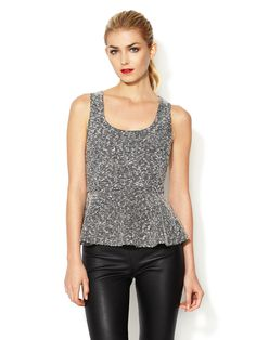 Tweed Peplum Top by The Letter at Gilt