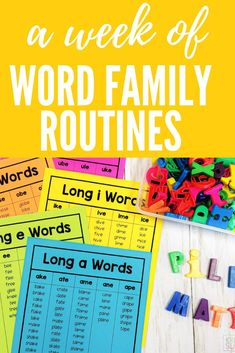 I learned the hard way that word families are a HUGE part of building a foundation for emergent readers! Consistent routines for generating, building and writing word families can significantly help your struggling readers to use word families to decode new words while reading! Reading Tips, Reading Resources, Reading Activities, Guided Reading, Writing Mini Lessons, Writing Practice, Teaching Writing, Word Family List, Family Poems
