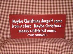Grinch primitve Christmas sign