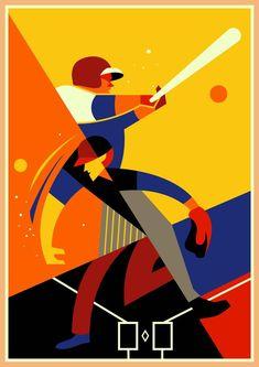 Baseball Memes Videos - Baseball Illustration Gif - - Baseball Ideas For Boyfriend Baseball Memes, Baseball Park, Character Illustration, Graphic Design Illustration, Illustration Art, Chicago Poster, Chicago Cubs, Play Poster, Sports Graphic Design