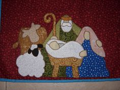 ***PATCHWORK-ADICTA*** Nativity Scene table runner