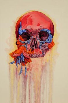 Flower and Skull Study - http://www.creativeboysclub.com/