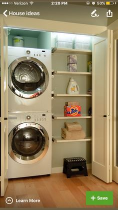 Laundry Room Idea 15 laundry closet ideas to save space and get organized | laundry