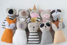 Animal dolls sewing patterns PDF tutorial Animal stuffed | Etsy