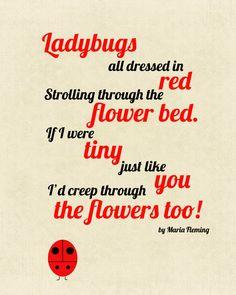 8X10 Ladybug Poem Print by CJMSquared