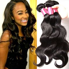 B&F Hair Brazilian Virgin Body Wave Weft 3 Bundles 10-26inch 100% Unprocessed Virgin Human Hair Extensions Natural Color (100+/-5g)/pc (8 10 12)