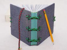 Jeans covered journal Hira Kara Emerald 6x6 от BlockOfNotes2