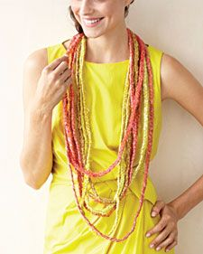 Beautiful braided silk necklaces.