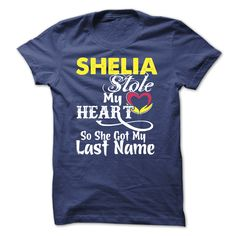 #funny #humor #science... Cool T-shirts  SHELIA stole my heart - (LaGia-Tshirts)  Design Description: This Shirt screen on high quality material and in the - Not sold in stores. - Shipping worldwide. - Guaranteed safe checkout  PayPal/VISA/MASTERCARD. If you dont absolutely ...