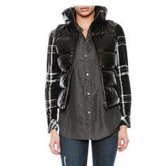 June Leather Puffer Vest - June - Designers