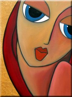 Art 'Just Enough - - by Thomas C. Fedro from Faces Abstract Face Art, Abstract Portrait, Portrait Art, Canvas Art Projects, Cubism Art, Art Drawings For Kids, Indian Folk Art, Arte Pop, Pastel Art