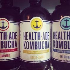 Kombucha drinkers have you tried Health-Ade brand? Grab a bottle at RAWvolution, 3 flavors to choose from.