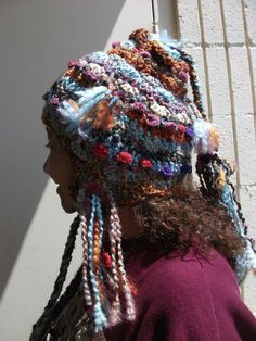 Freeform crochet Mountain Magic hat. $55.00, via Etsy.