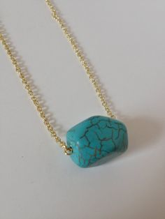 Simple Vintage Turquoise Necklace by IllumeJewelry on Etsy, $18.95