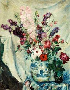 István Csók (Hungarian, Floral still life, Art Auction, Flower Art, Still Life, Art Gallery, Watercolor, Flower Paintings, Inspiration, Artworks, Ideas