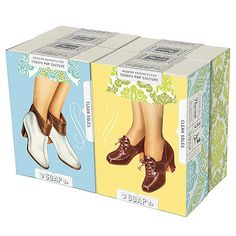 Clean Soles - Boxed Set of 4 Soaps $10.00 - French Paper - America's family-run paper mill