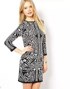 Paisely Scroll Sweater Dress