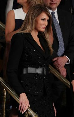 Melania Trump Is Covered in Sequins at the President's Address to Congress