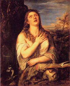 another Mary Magdalene - is this the same face as 'Woman in the Mirror' (just a little older?)