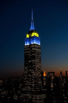 5/9/2018: Blue and yellow sparkles for EU Day.