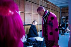 Jake Lockhart backstage at Sibling AW15 #LCM #AW15 #behindthescenes #menswear #nevsmen #nevsshows #backstage
