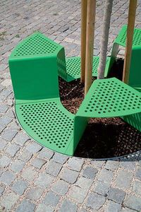 Integrated public seating