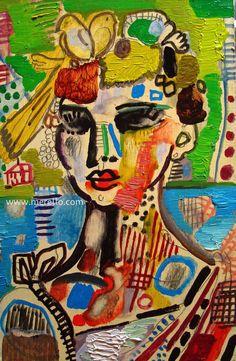"E X P R E S S I O N N I S M E  Jose Manuel Merello.- ""Mujer con canarios""  //  ""Woman with canary birds"" Oleo sobre tabla. (2009-2011).  Art Contemporain. Fauvisme, Expressionnisme. Art Espagnol. http://www.merello.com"