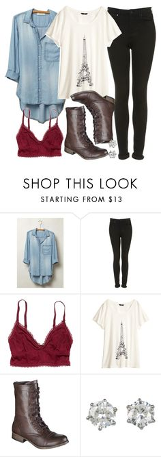 Allison inspired Outfit with Requested Boots by veterization on Polyvore featuring Cloth & Stone, H&M, Topshop, American Eagle Outfitters, Juicy Couture and Mossimo Supply Co.