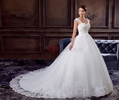 Tidebuy.com Offers High Quality Ladylike Off the Shoulder Appliques Wedding Dress with Beading, We have more styles for Ball Gown Wedding Dresses