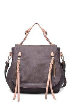 Pretty and neutral handbag.