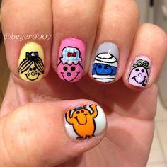 Mr men and little miss nail art