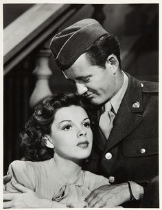 Judy Garland and Robert Walker for The Clock directed by Vincente Minnelli, 1945